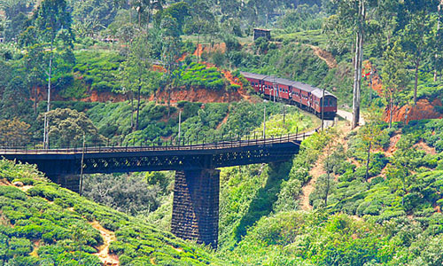 Ella Sri Lanka  city pictures gallery : 02 Ella, Sri Lankan Highlands, Train about to go over bridge